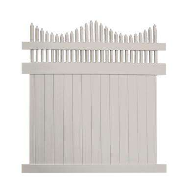 Louisville 6 ft. x 6 ft. Tan Vinyl Privacy Fence Panel Kit