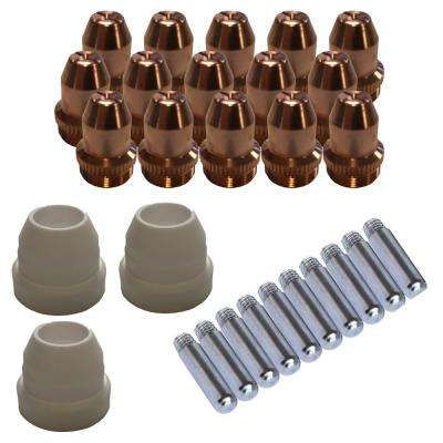 Plasma Cutter Consumables Sets for Brown Color LT5000D and Brown Color CT520D (33-Piecee)