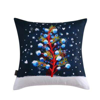 Christmas Tree Reversible 20 in. x 20 in. Decorative Pillow