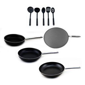 BergHOFF Boreal 9-Piece Non-Stick Cookware Set with Utensils by
