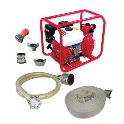 100 psi 60 GPM 2-Stage Fire Pump Gas High Pressure Washer