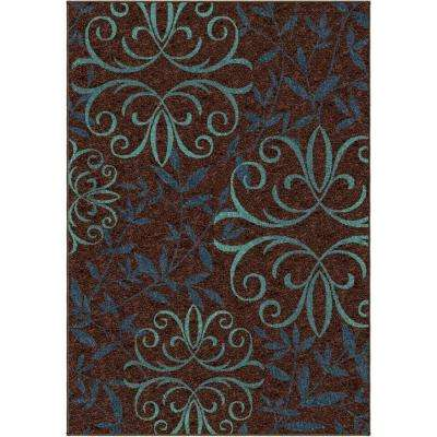 Voyager Brown 5 ft. x 8 ft. Indoor Area Rug