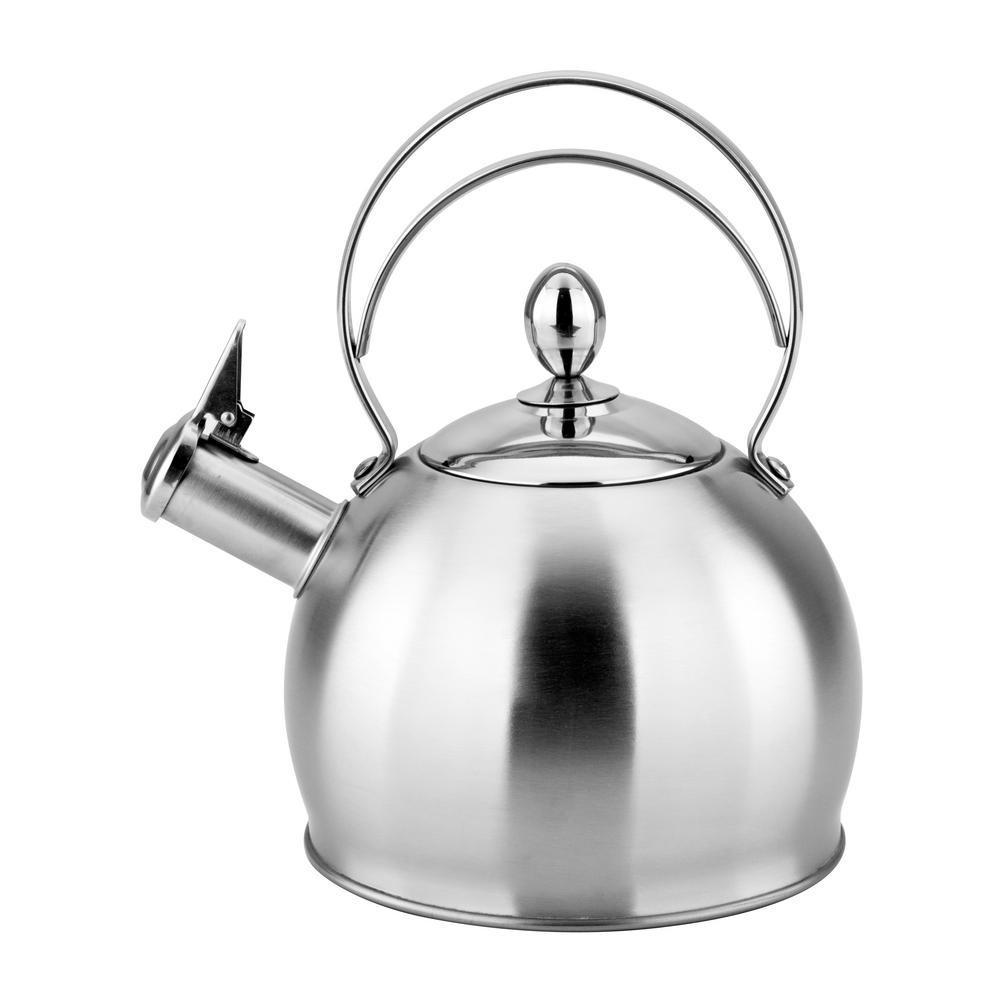 NIDDA 10.5-Cup Stainless Steel Whistling Tea Kettle