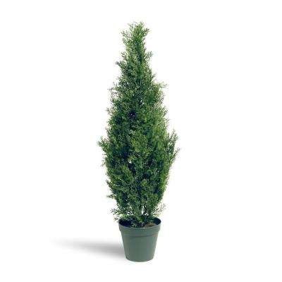 Outdoor Topiary Trees With Lights Artificial foliage topiaries outdoor decor the home depot arborvitae tree in dark green round growers pot workwithnaturefo