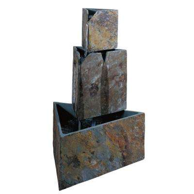 Stacked Triangles 30 in. Outdoor Fountain