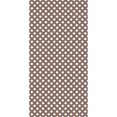 4 ft. x 8 ft . Acorn Brown Privacy Vinyl Lattice (2-Pack)
