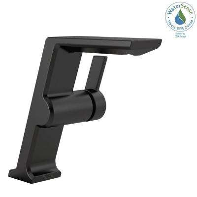 Pivotal Mid-Height Single Hole Single-Handle Bathroom Faucet in Matte Black