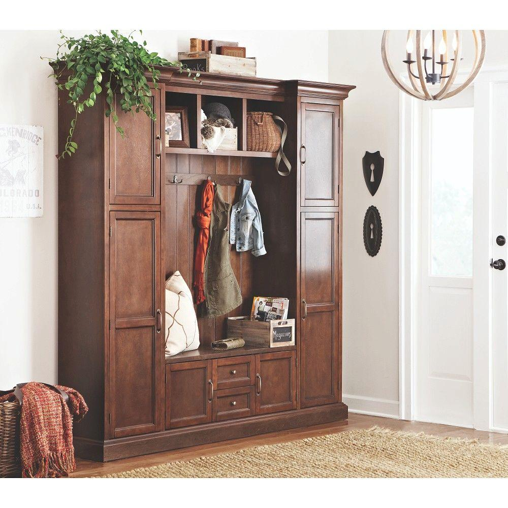 Home Decorators Collection Royce Smoky Brown Hall Tree 7474200820 The Home Depot