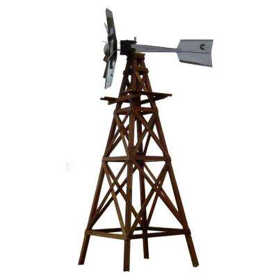 Wood Aeration Windmill Kit with Galvanized Functional Head