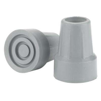 Crutch Tips, 7/8 in., Gray, (1-Pair)