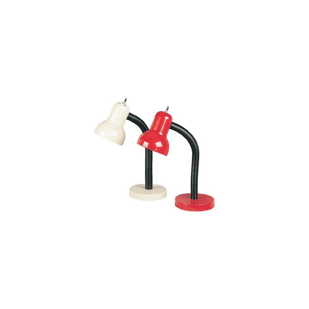 16 in. White Gooseneck Desk Lamp