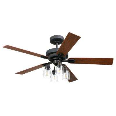 Oakdale 56 in. LED Indoor Oil Rubbed Bronze DC Ceiling Fan with Light Kit and Remote Control