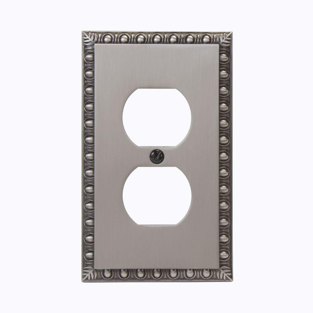 Renaissance 1 Duplex Wall Plate - Antique Nickel