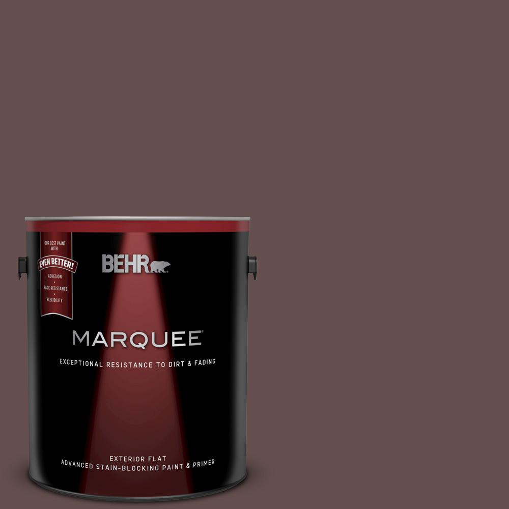 Behr Marquee 1 Gal Home Decorators Collection Hdc Cl 13a Library Leather Flat Exterior Paint Primer