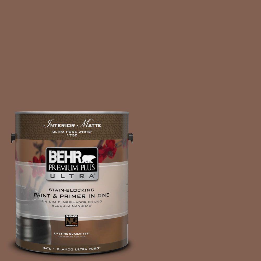BEHR Premium Plus Ultra 1 gal. #HDC-SP14-6 Tilled Earth Matte Interior Paint