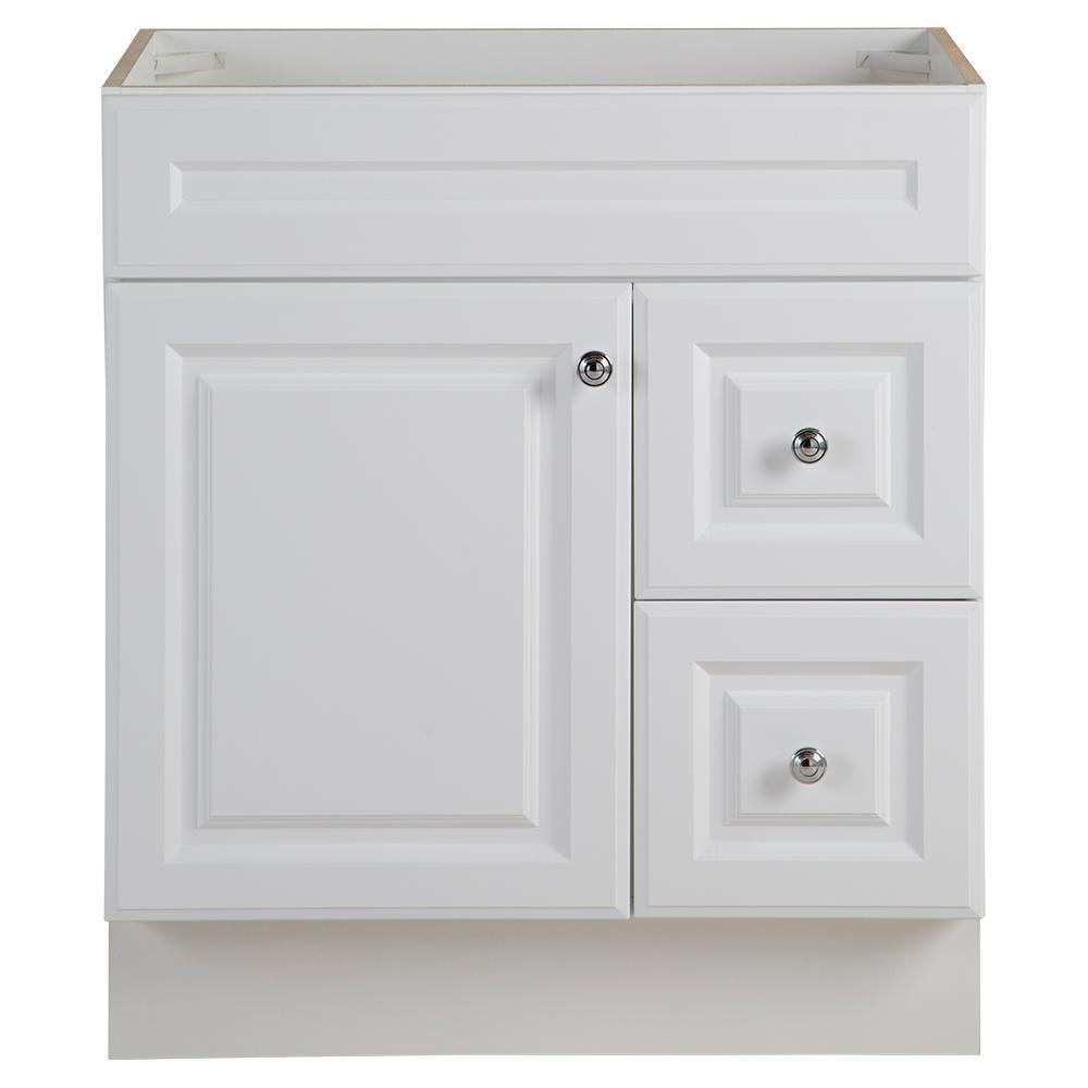 Glensford 30 in. W x 22 in. D Bathroom Vanity Cabinet in White