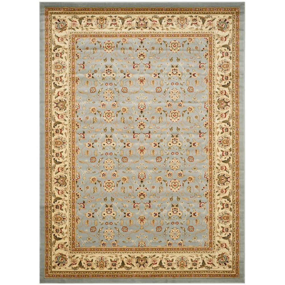 Safavieh Lyndhurst Light Blue Ivory 9 Ft X 12 Ft Area Rug Lnh312b