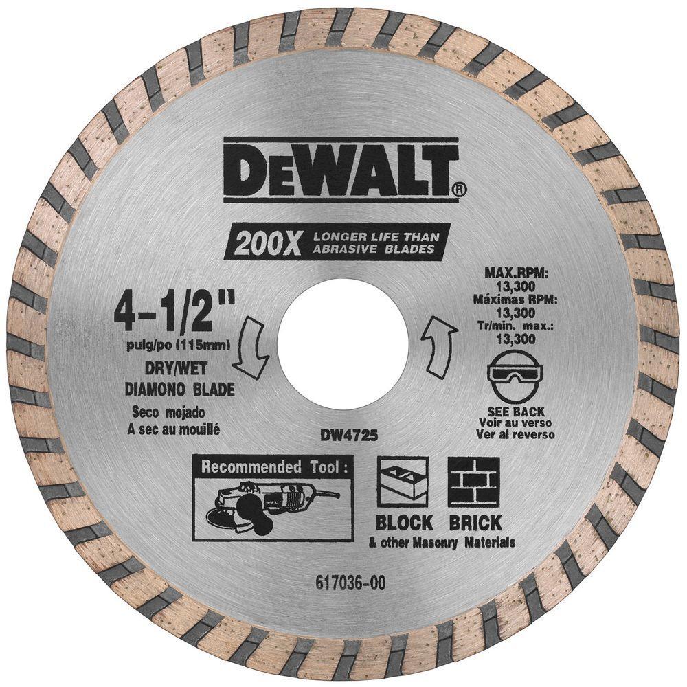High Performance Diamond Masonry Blade Dw4725 The Home Depot