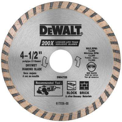 4-1/2 in. High Performance Diamond Masonry Blade