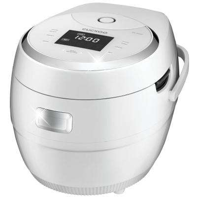 2.5 qt. White/Silver 10-cup Multi-functional Micom Electric Rice Cooker and Warmer 16-built-in programs