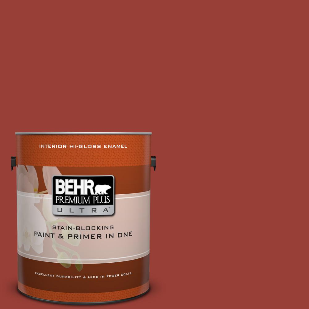 Behr Premium Plus Ultra 1 Gal S H 190 Antique Red Hi Gloss
