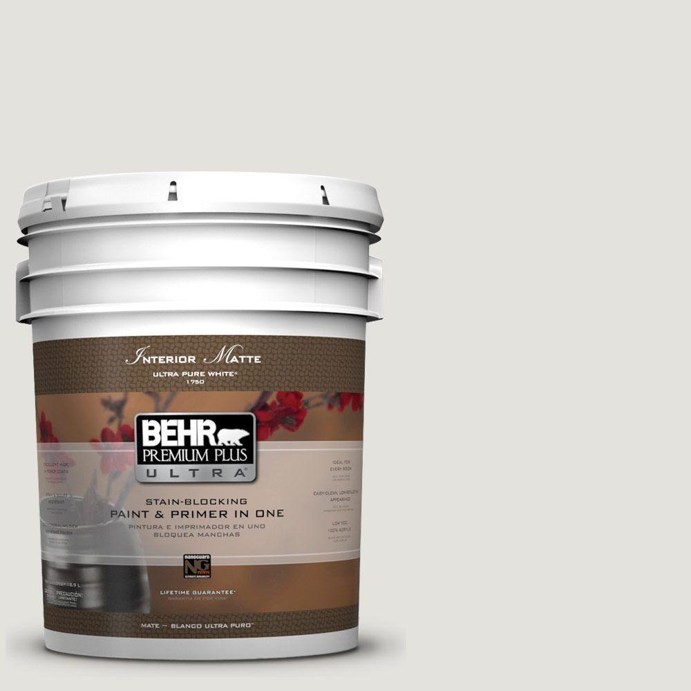 BEHR Premium Plus Ultra 5 gal. #UL200-11 Polished Flat/Matte Interior Paint