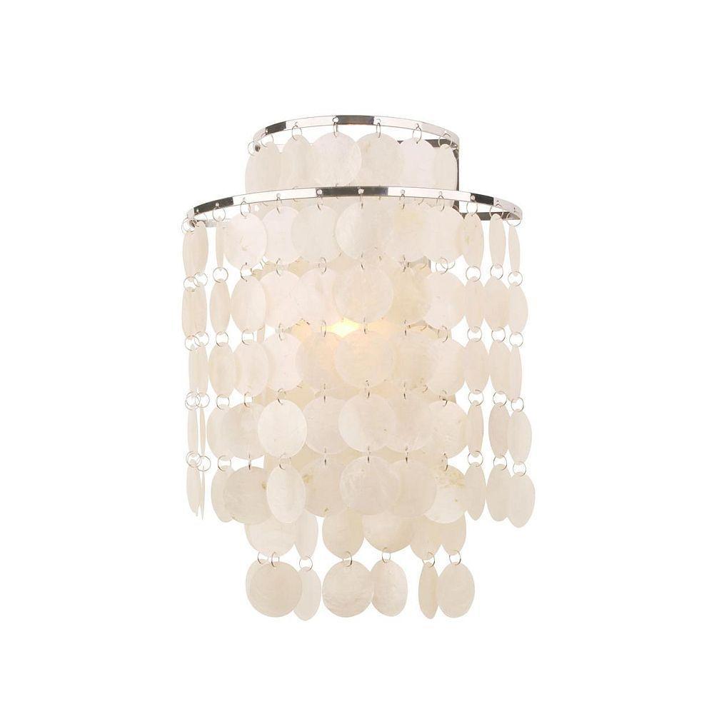 Hampton Bay Razzari Collection 1-Light Chrome Sconce