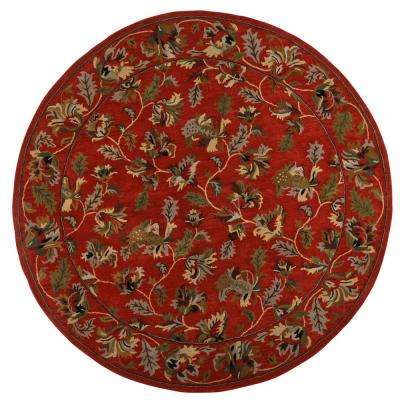 Governor Rust 8 ft. x 8 ft. Round Area Rug
