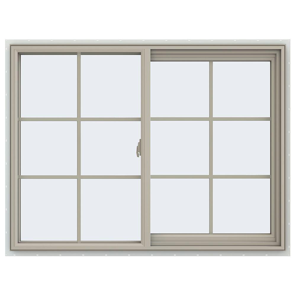 47.5 in. x 35.5 in. V-2500 Series Right-Hand Sliding Vinyl Window