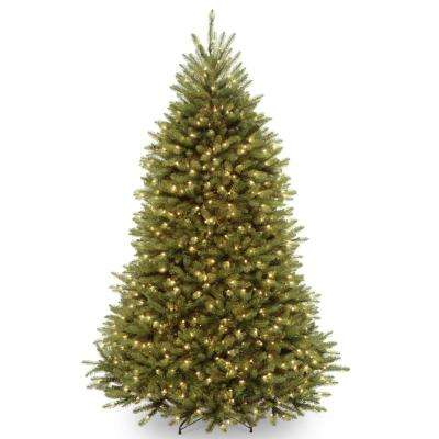 7 ft. Dunhill Fir Hinged Tree with 700 Clear Lights and PowerConnect