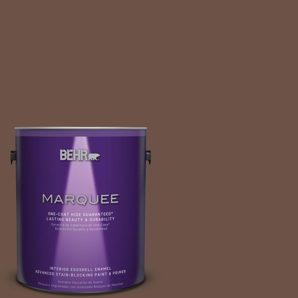 BEHR MARQUEE 1 gal. #MQ2-5 Well Bred Brown One-Coat Hide Eggshell Enamel Interior Paint