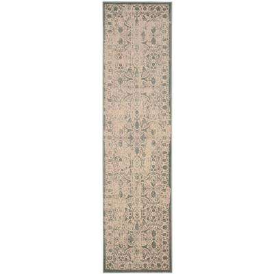 Brilliance Cream/Sage 2 ft. x 8 ft. Runner