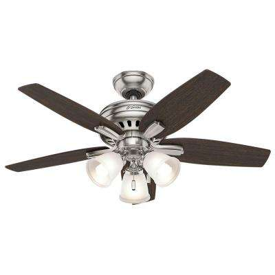 Newsome 42 in. Indoor Brushed Nickel Ceiling Fan with 3-Light