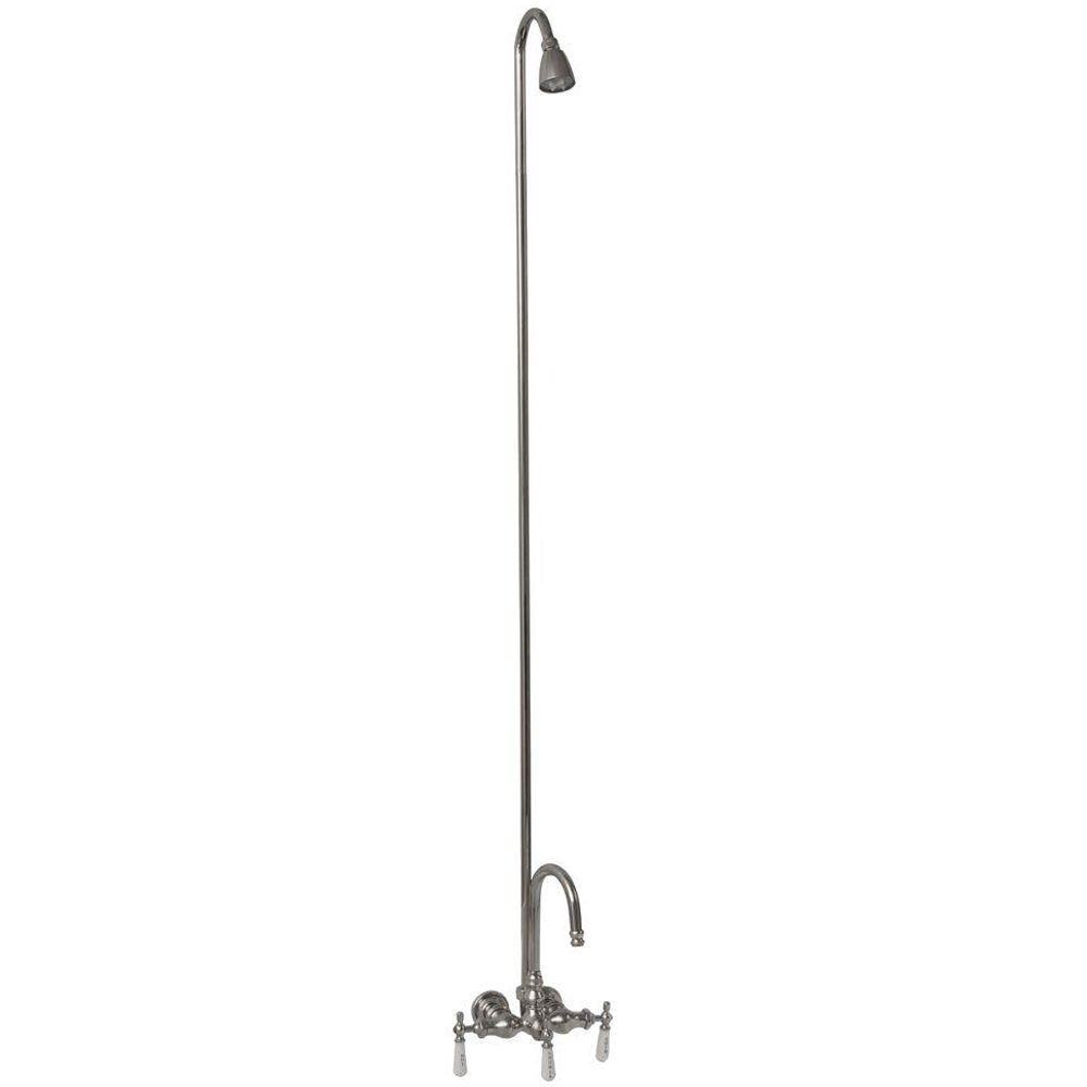 Barclay Products 3 Handle Claw Foot Tub Faucet Without Hand Shower
