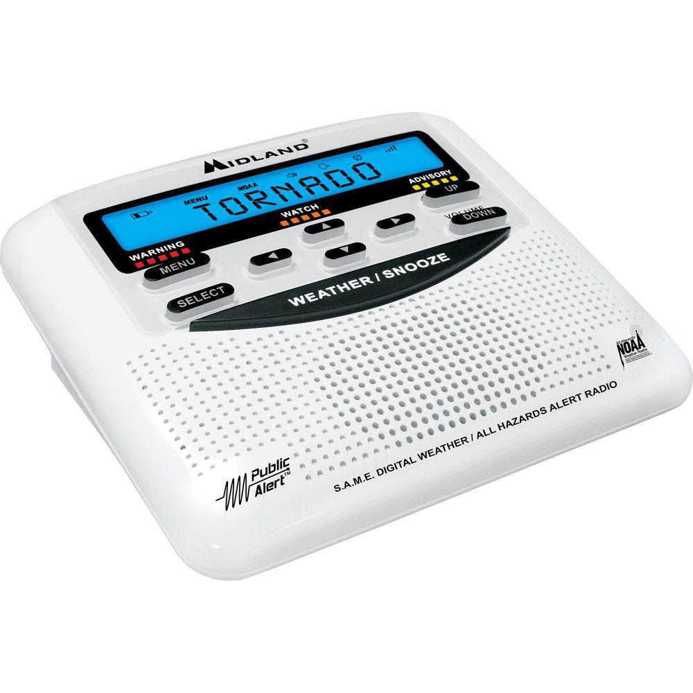 Midland Weather Alert Radio with Alarm Clock