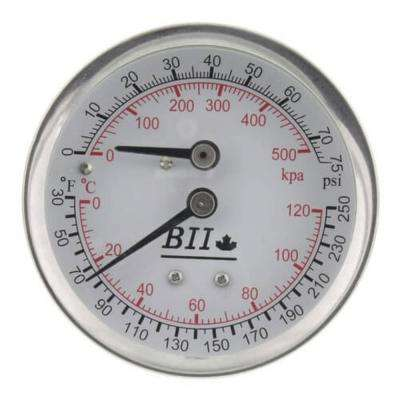 2.5 in. Industrial Combination Pressure Gauge/Thermometer