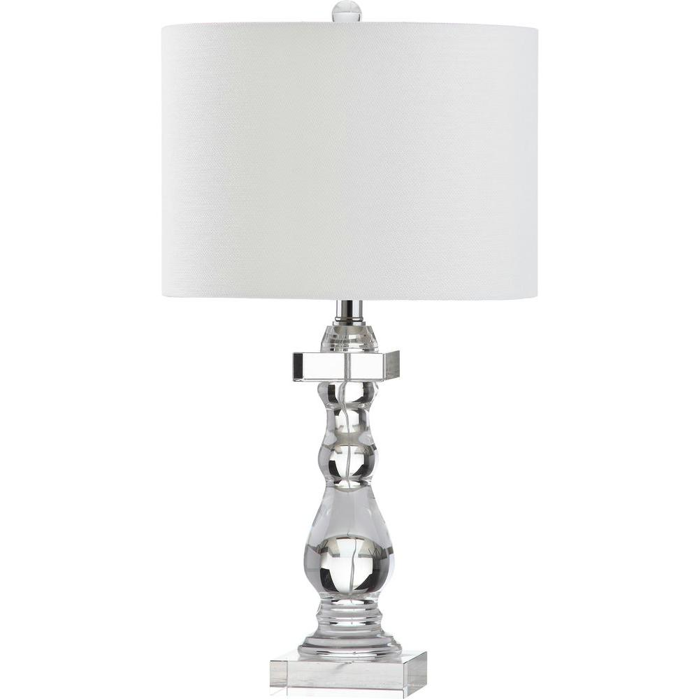 Safavieh Delta 27 5 In Clear Table Lamp Lit4282a The Home Depot