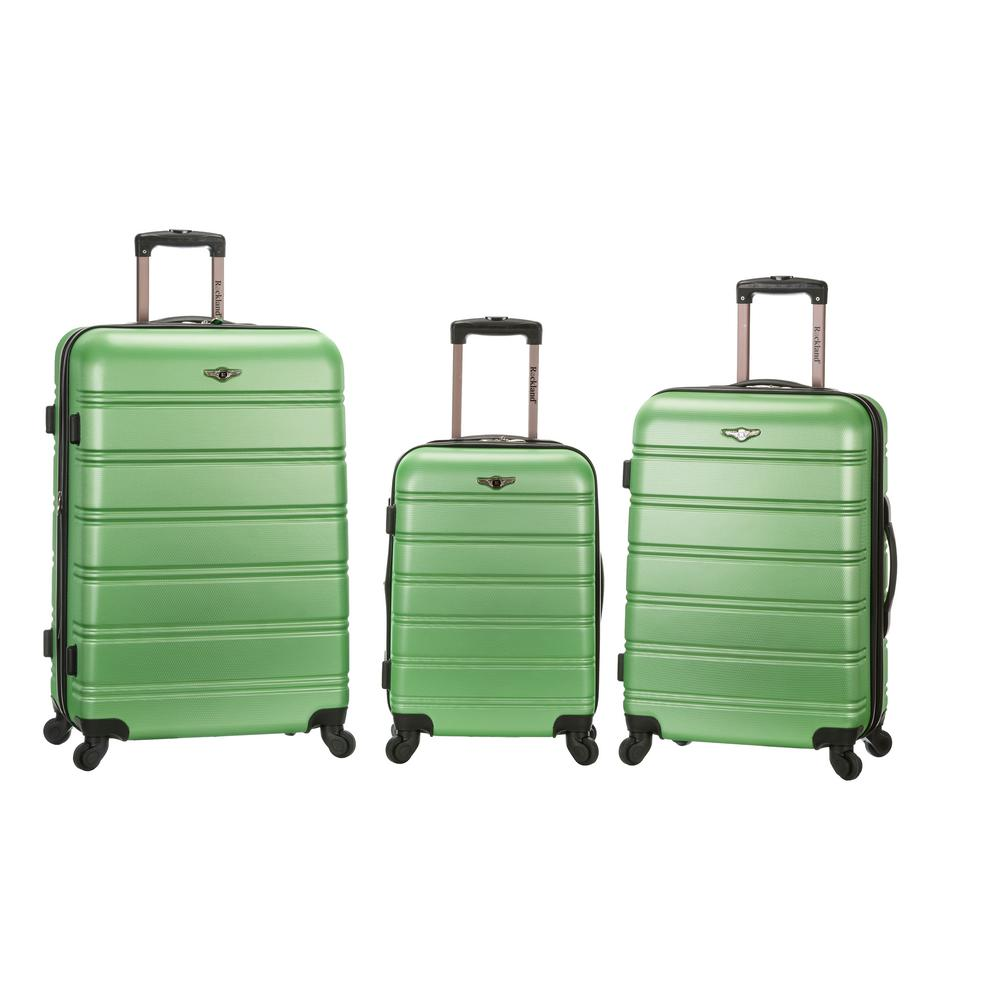 Rockland Melbourne 3-Piece Hardside Spinner Luggage Set, Green was $490.0 now $245.0 (50.0% off)