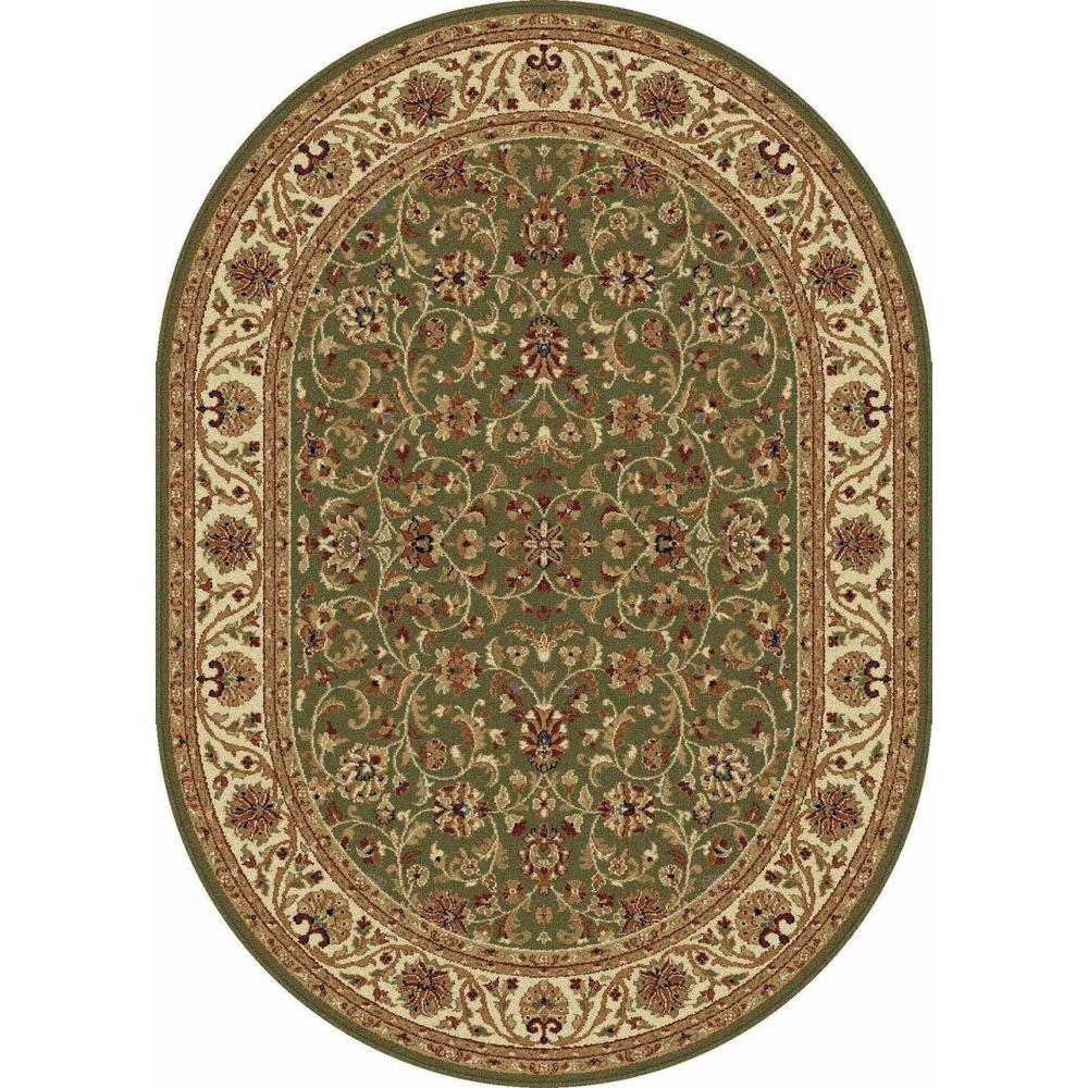 tayse rugs sensation green 5 ft x 7 ft oval transitional area rug 4815 green 5x8 oval the. Black Bedroom Furniture Sets. Home Design Ideas