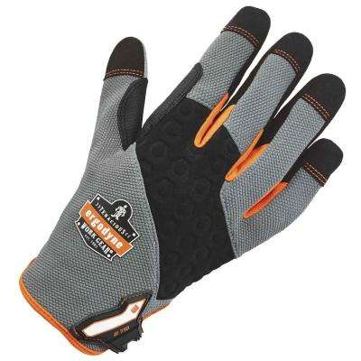 Large Gray Heavy-Duty Utility Gloves