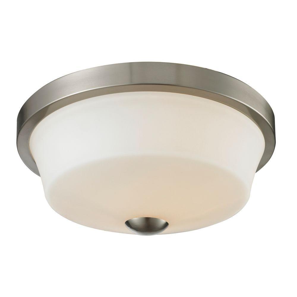 Filament Design Chic 2-Light Brushed Nickel Flushmount