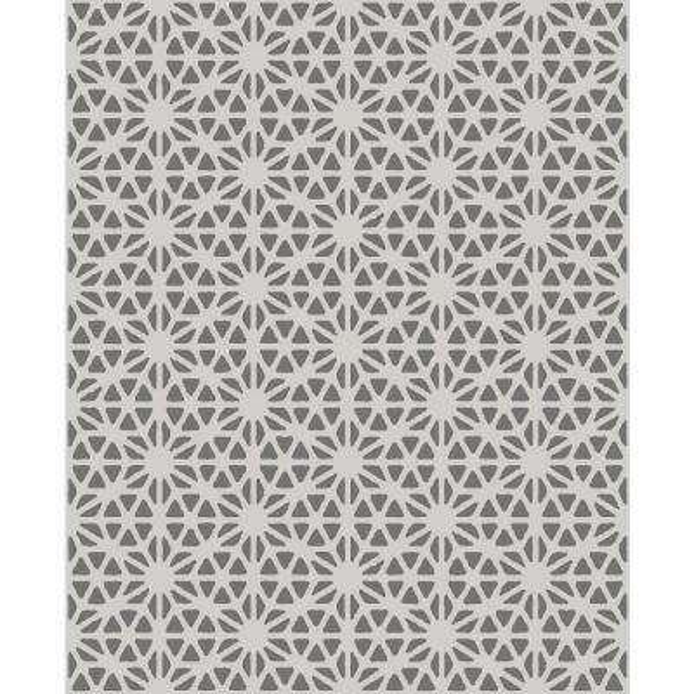 56.4 sq. ft. Billie Slate Geometric Wallpaper