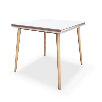 Blythe White and Natural Square Dining Table