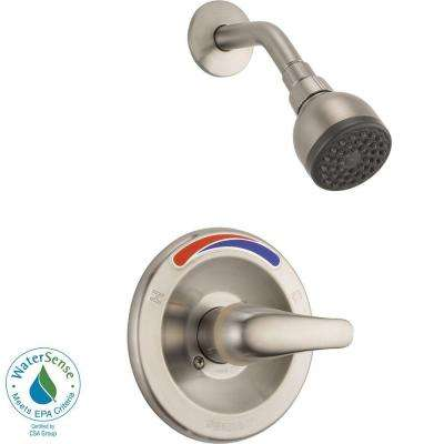 Single-Handle Shower Faucet Trim Kit in Brushed Nickel (Valve Not Included)