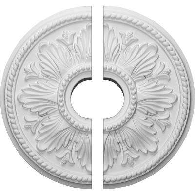 18 in. x 3-1/2 in. x 1-3/4 in. Edinburgh Urethane Ceiling Medallion, 2-Piece (Fits Canopies up to 5-1/4 in.)