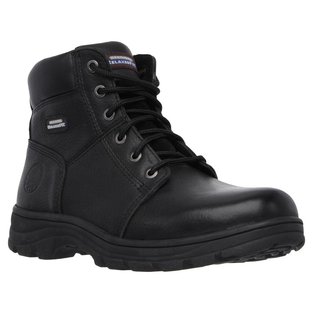 fe12d50e1ee93 Skechers Workshire - Condor Men Size 10 Black Leather Work Boot ...