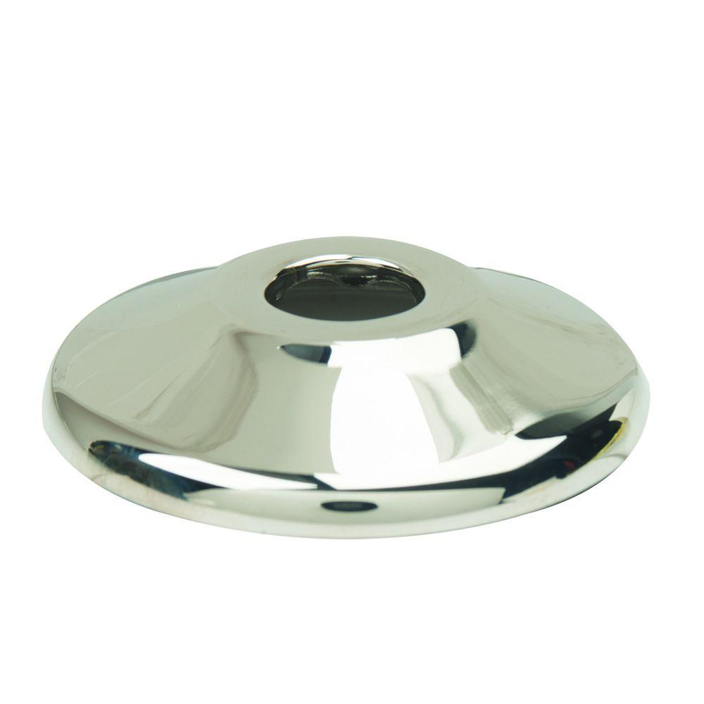 BrassCraft 1/2 in. Nominal (5/8 in. O.D.) Shallow Escutcheon for Copper Pipe in Polished Nickel