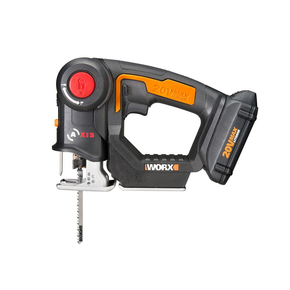 Worx AXIS 20-Volt Lithium-Ion Convertible Jigsaw/Reciprocating Saw