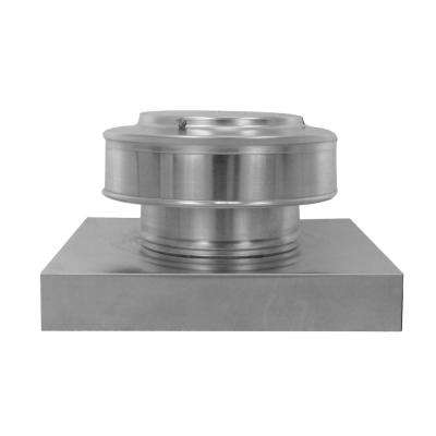 6 in. Dia. Aluminum Round Back Roof Vent with Curb Mount Flange in Mill Finish