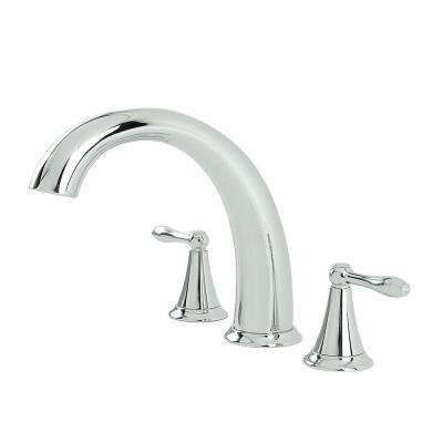 Montbeliard 2-Handle Deck-Mount Roman Tub Faucet in Chrome